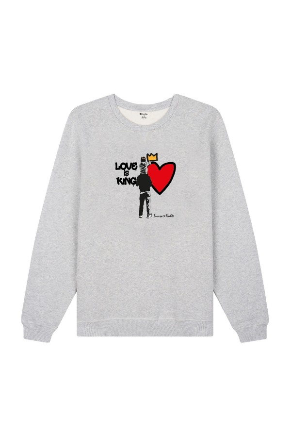 SWEAT LOVE IS KING GREY