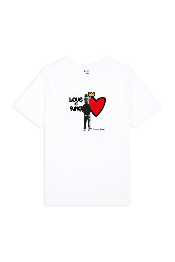 T-SHIRT LOVE IS KING WHITE