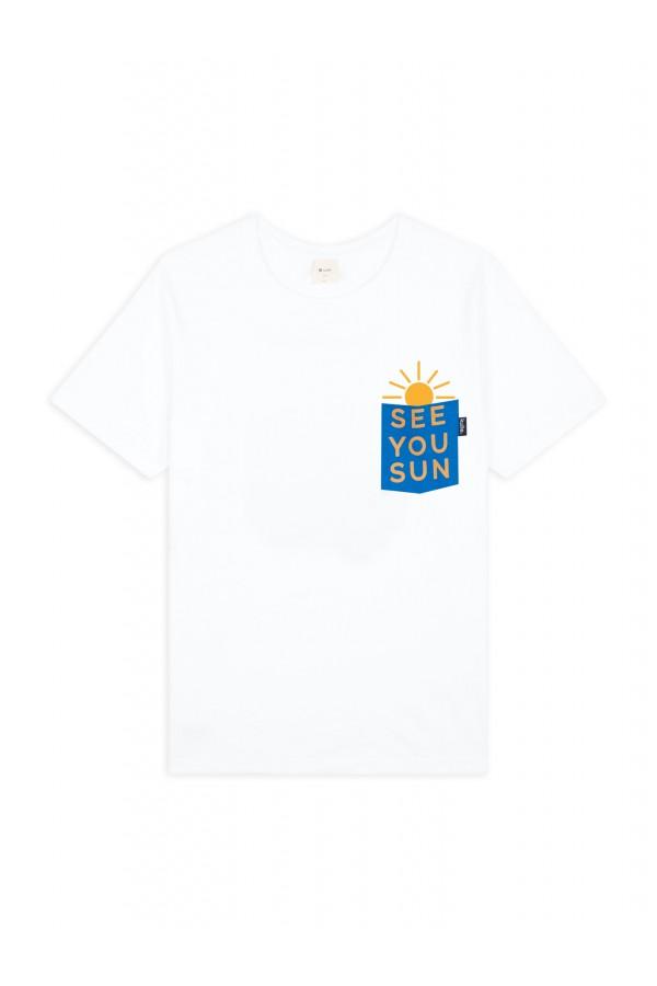 T-SHIRT SEE YOU SUN WHITE