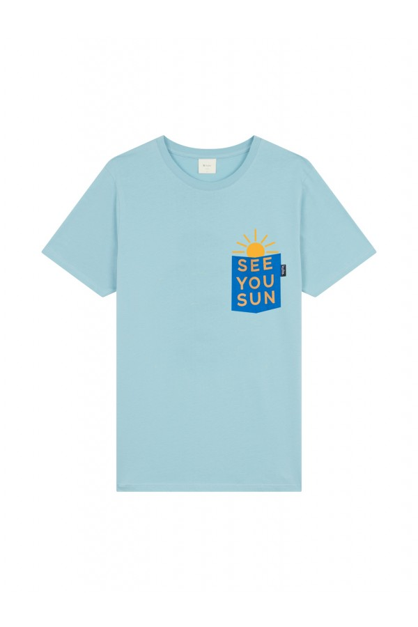 T-SHIRT SEE YOU SUN LIGHT BLUE