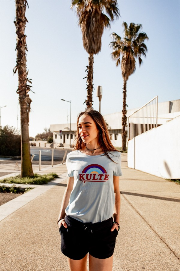T-SHIRT FEMME CALIFORNIA SKY LIGHT BLUE