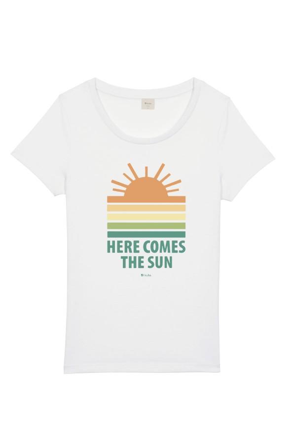 T-SHIRT FEMME SUN WHITE
