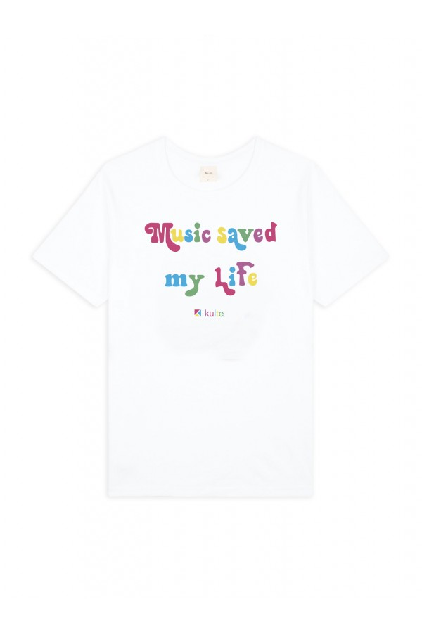T-SHIRT MUSIC LIFE WHITE