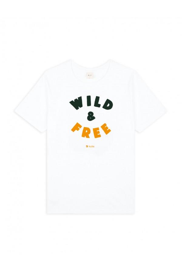 T-SHIRT WILD AND FREE WHITE